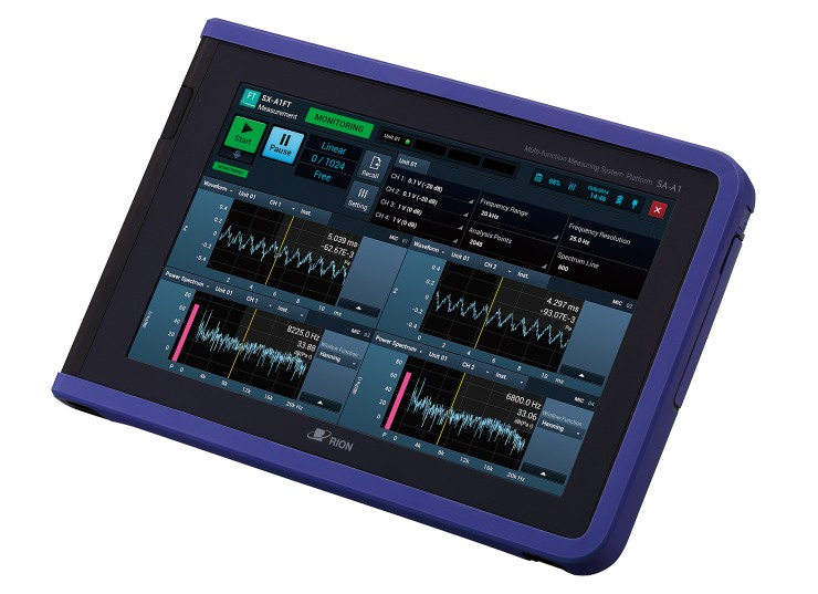 RIONOTE Multi Channel Sound and Vibration Analyzer FFT octave analyzis
