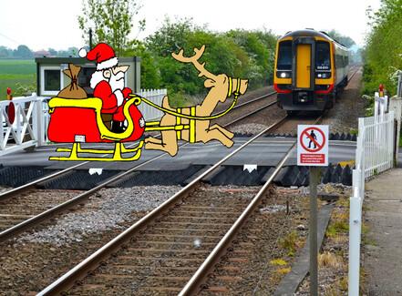 Glædelig Jul og Godt Nytår til jernbanen
